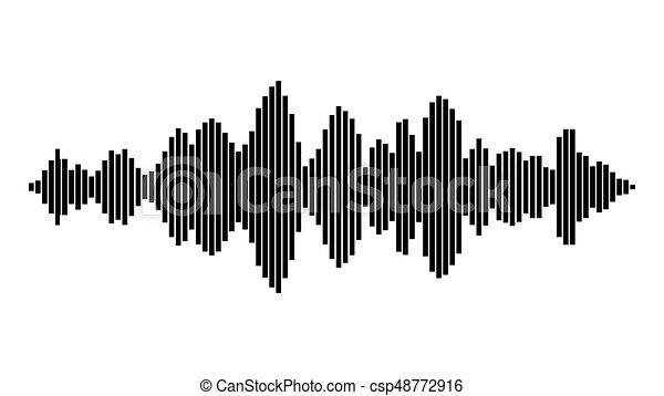 geluid, equalizer, symbool, golf, vector, muziek, pictogram, design. - csp48772916