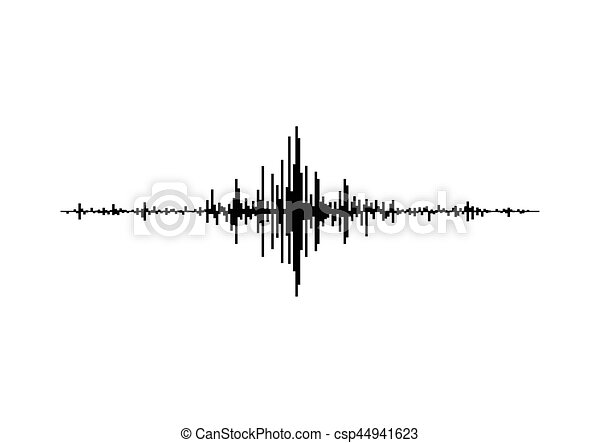 geluid, equalizer, technologie, musical., vrijstaand, pols, achtergrond., vector, muziek, illustratie, golven, black , witte , audio - csp44941623