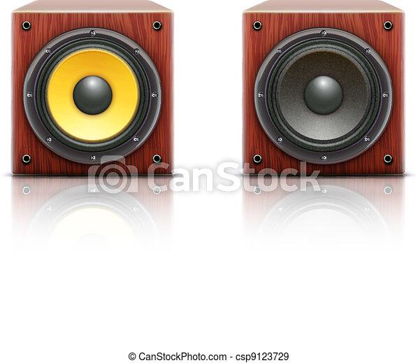 geluid, sprekers, luid - csp9123729
