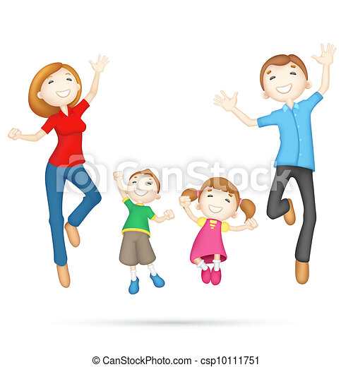 gelukkige familie, 3d - csp10111751
