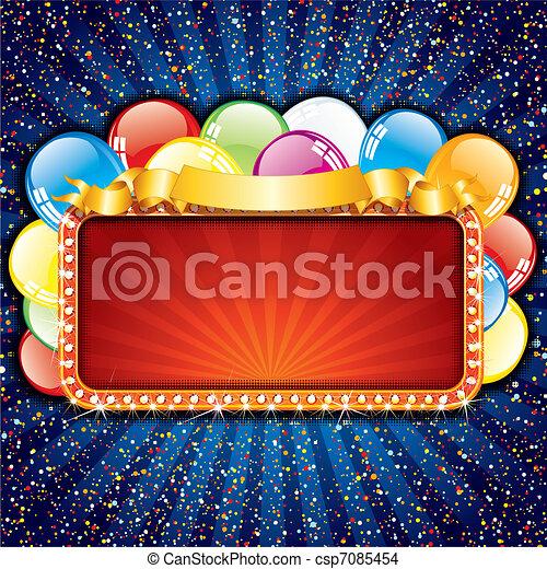 gelukkige verjaardag, meldingsbord - csp7085454