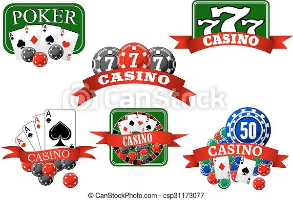 geluksspelletjes, jackpot, pook, casino, iconen - csp31173077