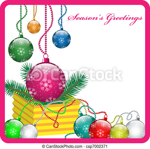 gelul, kerst decoraties - csp7002371