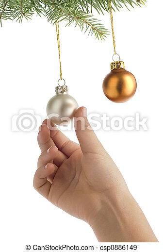 gelul, kerstmis, hangend - csp0886149