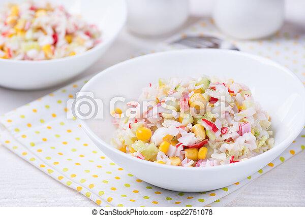 Gemüse Frisch Mayonnaise Salat Getreide Salat Mayonnaise