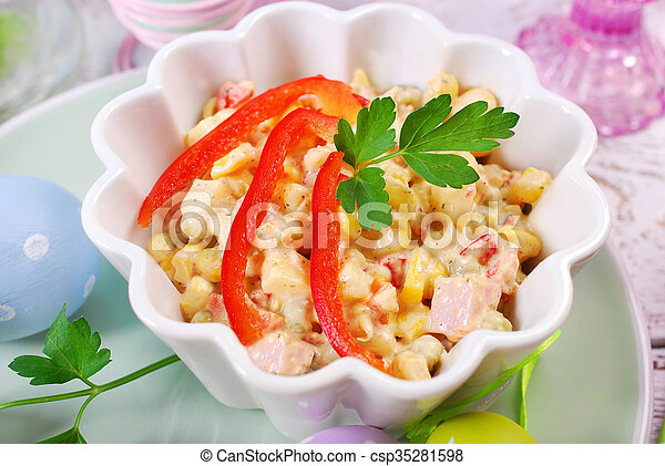 Gemüse Mayonnaise Ostern Schinkenkate Salat Schinkenkate