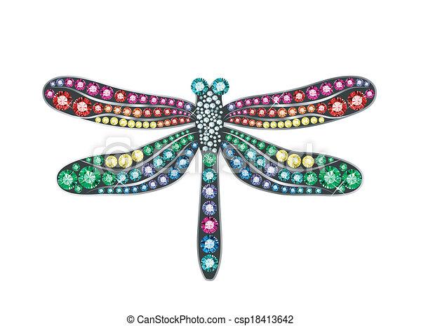 Gem Dragonfly - csp18413642