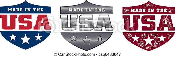 Made in the USA Schild - csp6433847