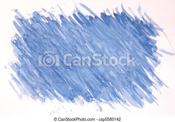 gemalt, blauer hintergrund - csp5580142