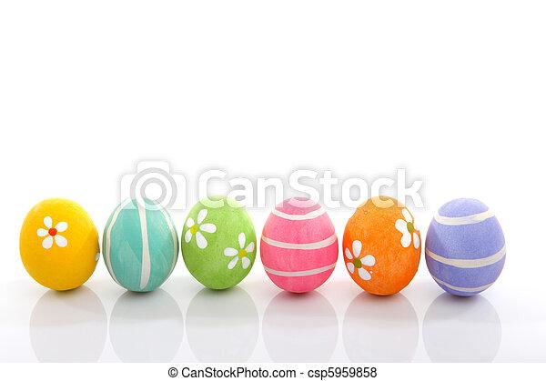 gemalt, eier, ostern - csp5959858