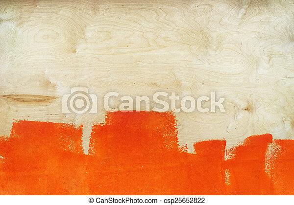 Gemalt, farbe, blatt, sperrholz, orange. Heet, gemalt,... Stockfoto ...