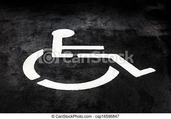 Gemalt, zeichen, unfähigkeit, boden. Gemalt, symbol, unfähigkeit, boden.
