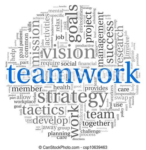 Teamwork Konzept in Word Tag Wolke - csp10639463