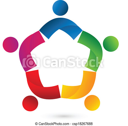 Teamwork Kollaboration Star Logo - csp18267688