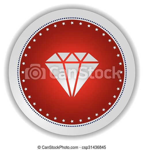 gemstone icon button - csp31436845