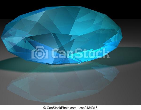 gemstone, zircon - csp0434315