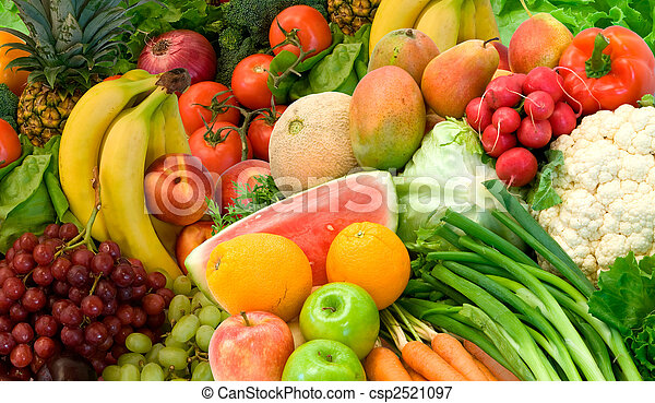 gemuese, früchte, anordnung - csp2521097