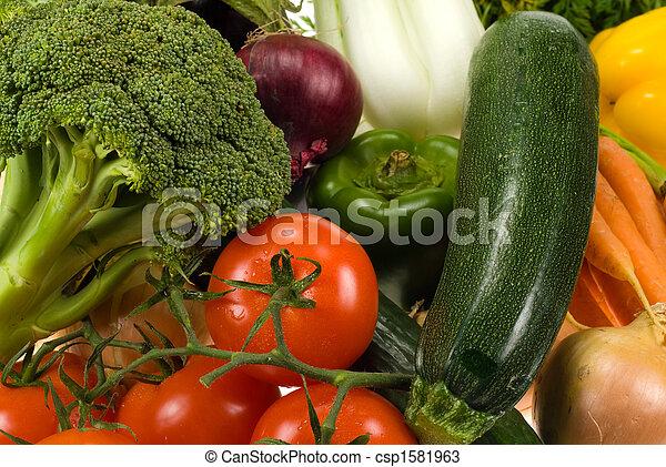 Gemüse im Hintergrund - csp1581963