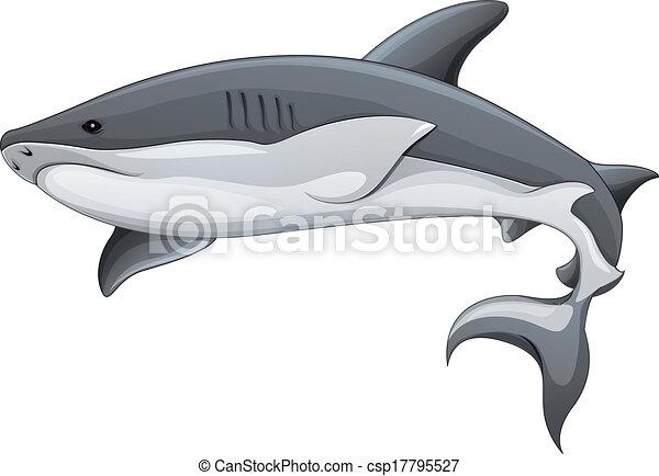 Genérico, tiburón, ilustración. Genérico, tiburón, -, ilustración ...