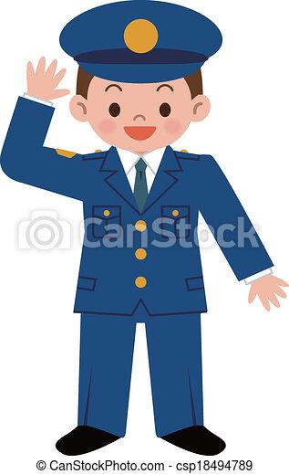 gendarme, enfants - csp18494789