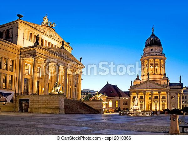 gendarmenmarkt square in berlin - csp12010366