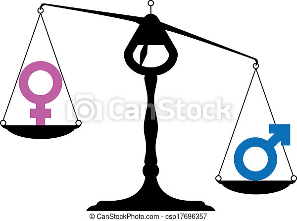 Gender Equality Symbols Simpe Illustration Of A Balance With Icons