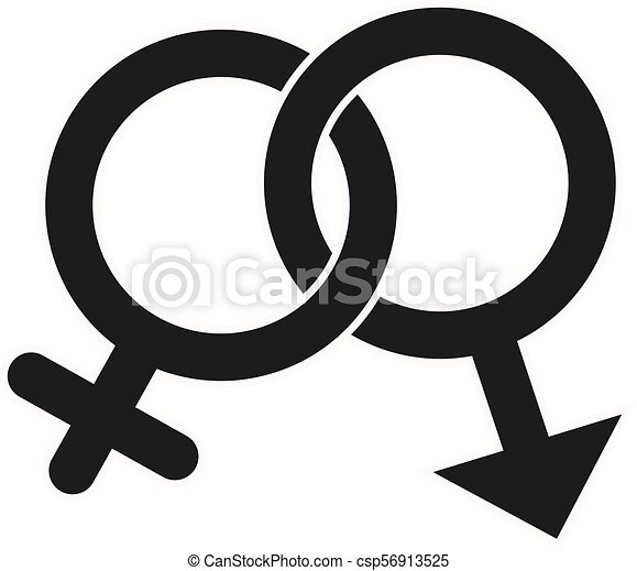 Gender Icon in trendy flat style isolated on white background. Award symbol for your web site design, logo, app, UI. Vector illustration - csp56913525