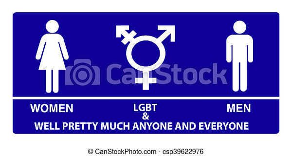 Gender Neutral Bathroom Sign   Csp39622976