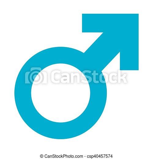 Gender Symbol Isolated Man Gender Symbol On A White Background