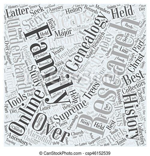 genealogy online Word Cloud Concept - csp46152539