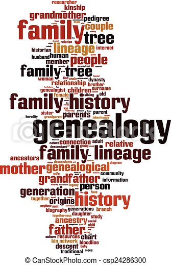 genealogy word cloud concept vector illustration rh canstockphoto com genealogy clip art images genealogical clip art