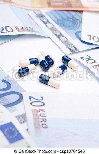 geneeskunde, geld - csp10764546