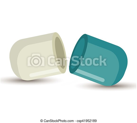geneeskunde, open capsule, ontwerp - csp41952189