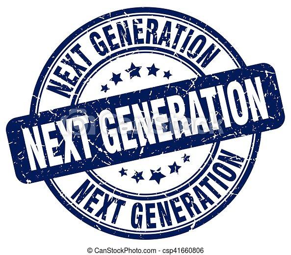 Próxima generación sello grunge azul - csp41660806
