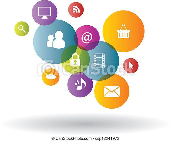 Negocios de generación en los medios sociales - csp12241972