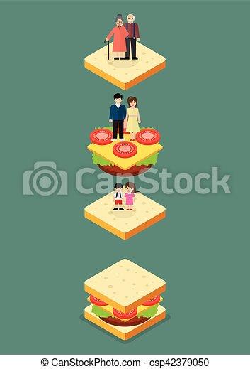 Generación de sándwiches - csp42379050
