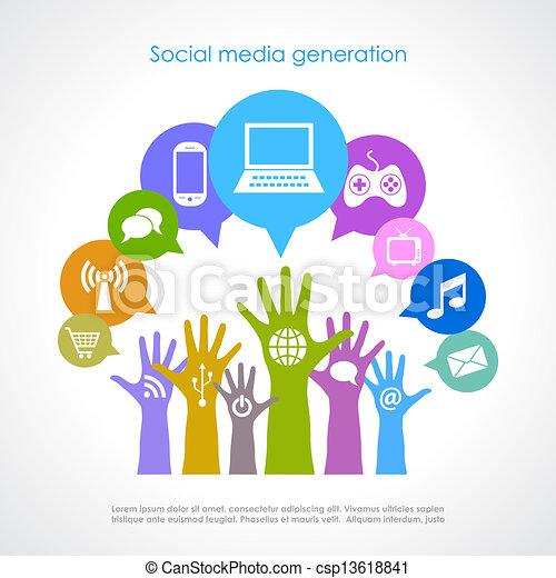 Generación de las redes sociales - csp13618841