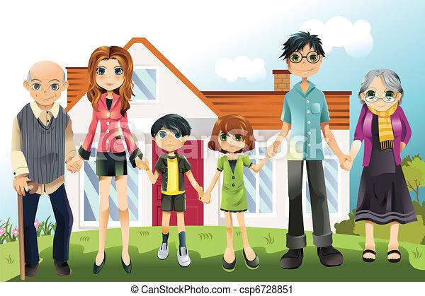 Familia de generación múltiple - csp6728851