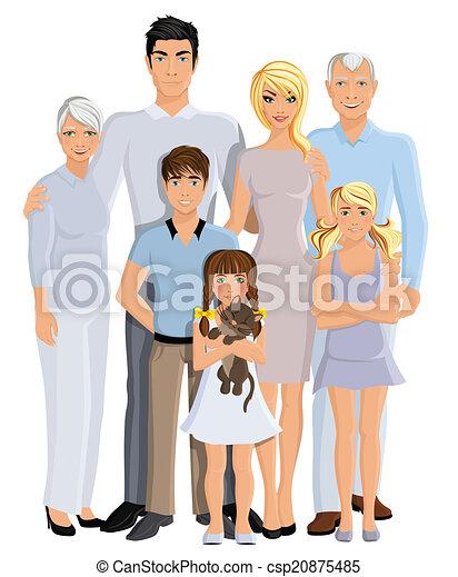 Retrato de generación familiar - csp20875485