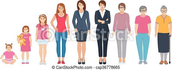 Toda la generación de mujeres establecidas - csp36778665