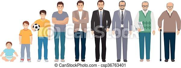 Todos los hombres de la generación de edad - csp36763401