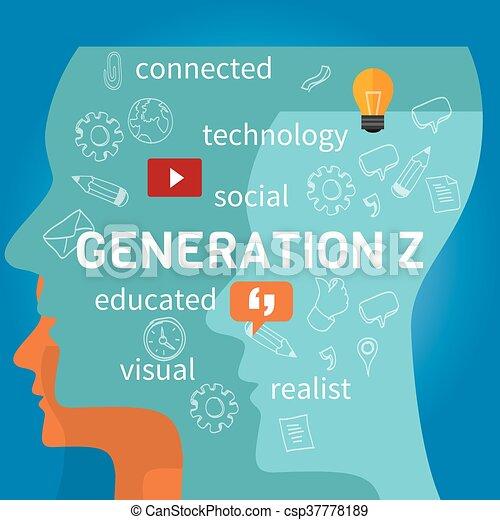 Generación z conectada - csp37778189