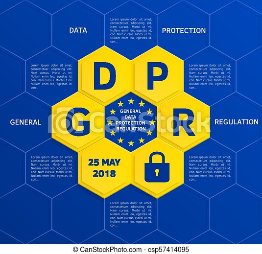 General Data Protection Regulation (GDPR) concept may 25, 2018. Vector. - csp57414095