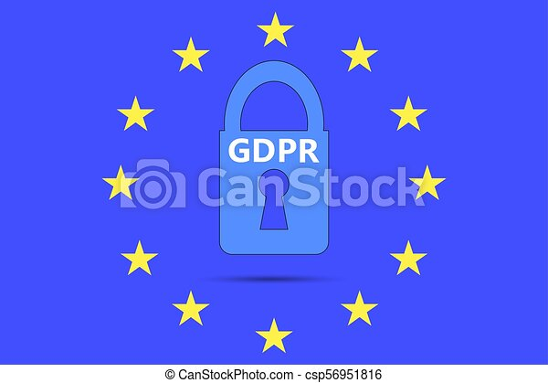 General Data Protection Regulation (GDPR) padlock - csp56951816