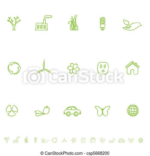 General Eco Symbols Icon Set - csp5668200