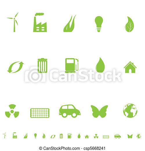 General Eco Symbols - csp5668241