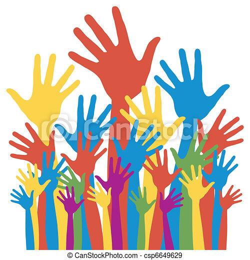 General election voting hands. - csp6649629