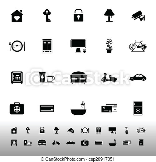 General home stay icons on white background - csp20917051