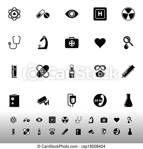 General hospital icons on white background - csp18008424