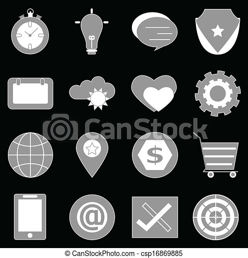 General icons on back background - csp16869885